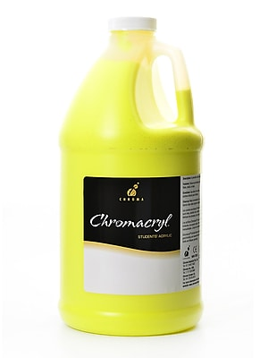 Chroma Inc. Chromacryl Students' Acrylic Paints, Cool Yellow, 2 Litres (65232)