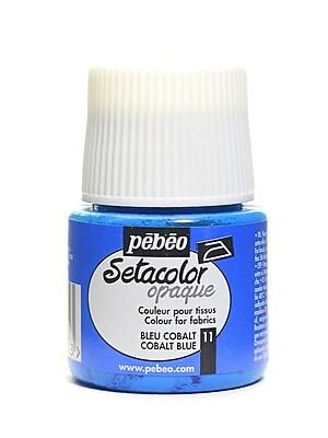 Pebeo Setacolor Opaque Fabric Paint cobalt blue 45 ml [Pack of 3]