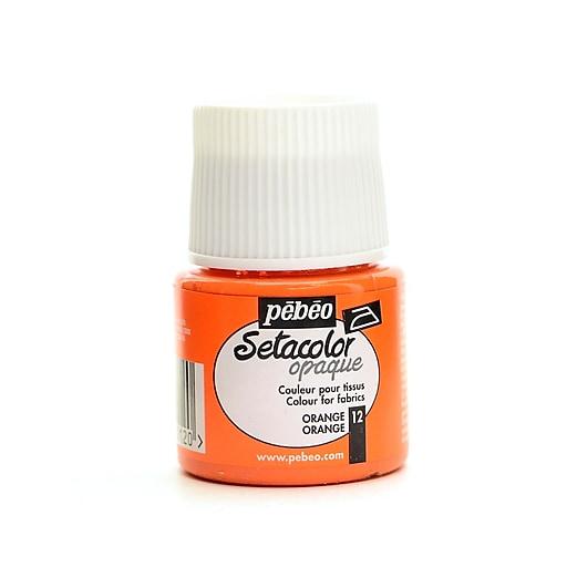 Pebeo Setacolor Opaque Fabric Paint orange 45 ml [Pack of 3]