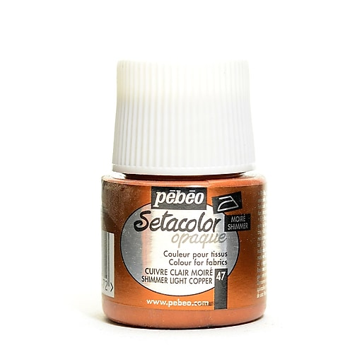 Pebeo Setacolor Opaque Fabric Paint shimmer light copper 45 ml [Pack of 3]