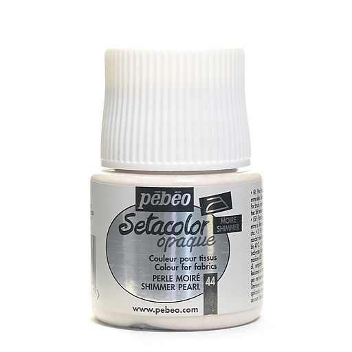 Pebeo Setacolor Opaque Fabric Paint shimmer pearl 45 ml [Pack of 3]