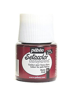 Pebeo Setacolor Transparent Fabric Paint plum 45 ml [Pack of 3]