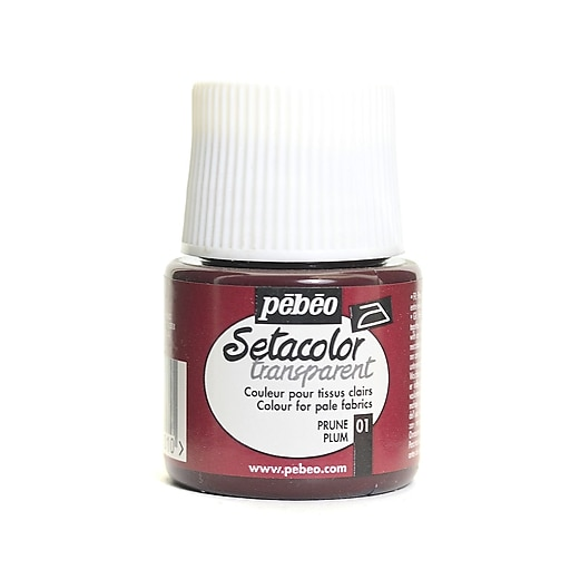 Pebeo Setacolor Transparent Fabric Paint plum 45 ml [Pack of 3]