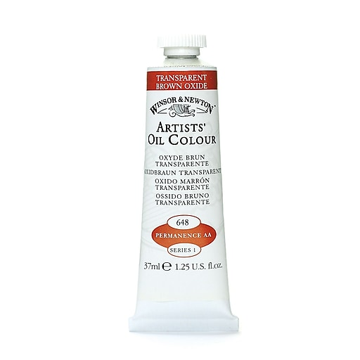 Winsor  and  Newton Artists' Oil Colours transparent brown oxide 648 37 ml