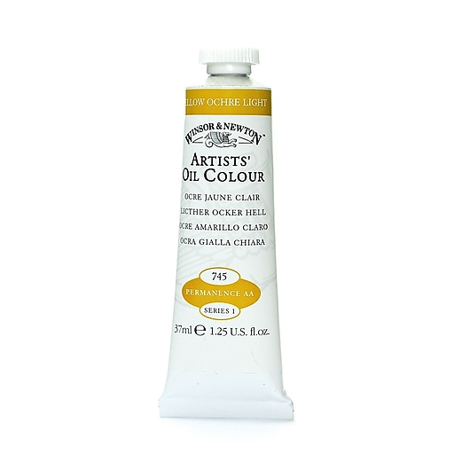 Winsor  and  Newton Artists' Oil Colours yellow ochre light 745 37 ml