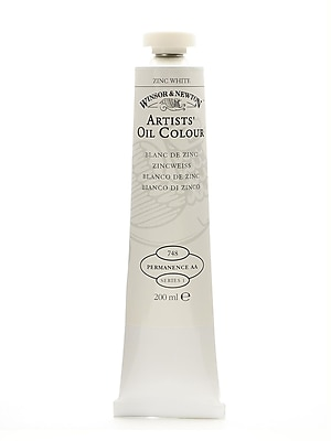Winsor and Newton Artists' Oil Colours zinc white 748 200 ml