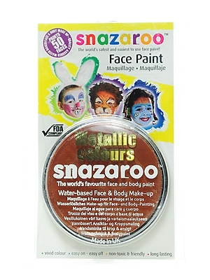 Snazaroo Face Paint Colors metallic copper [Pack of 2]