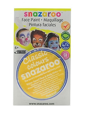 Snazaroo Face Paint Colors bright yellow [Pack of 3]