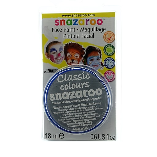 Snazaroo Face Paint Colors light grey [Pack of 3]