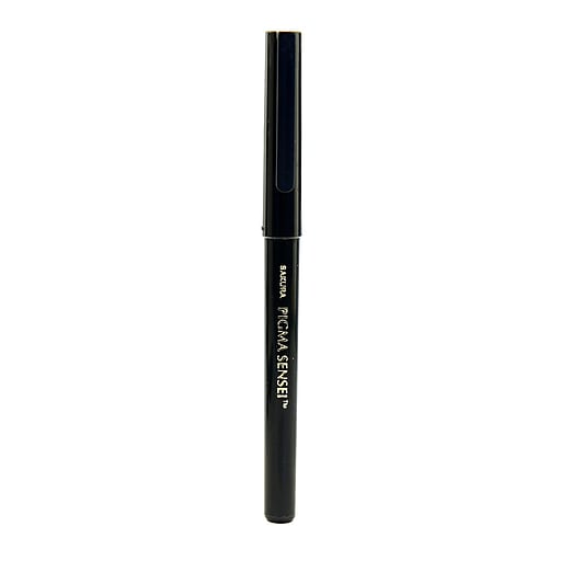Sakura Pigma Sensei Pens, 0.6mm, Bullet Fiber Tip, Black, 12/Pack (79142-PK12)