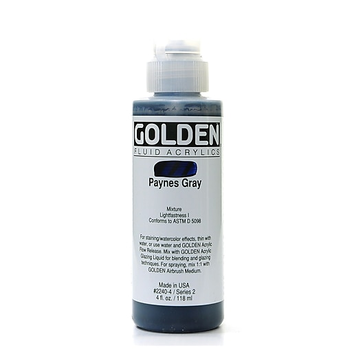 Golden Fluid Acrylics, Payne's Gray, 4Oz (20069)