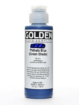 Golden Fluid Acrylics Phthalo Blue/Green Shade 4 Oz.