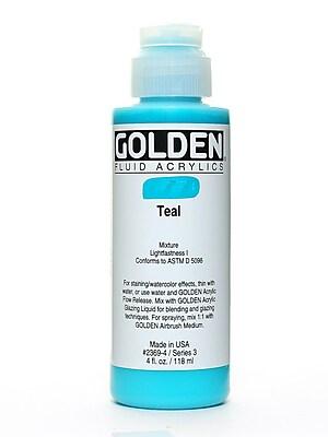 Golden 59532 Fluid Acrylics, Teal, 4Oz