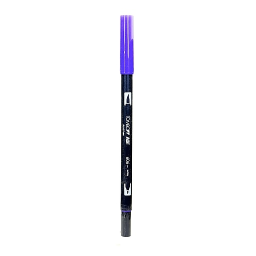 Tombow Dual End Brush Pen, Violet, 12/Pack (31167-PK12)