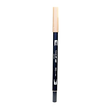 Tombow Dual End Brush Pen, Sand, 12/Pack (37095-PK12)