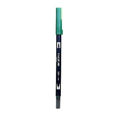 Tombow Dual End Brush Pen hunter green [Pack of 12]