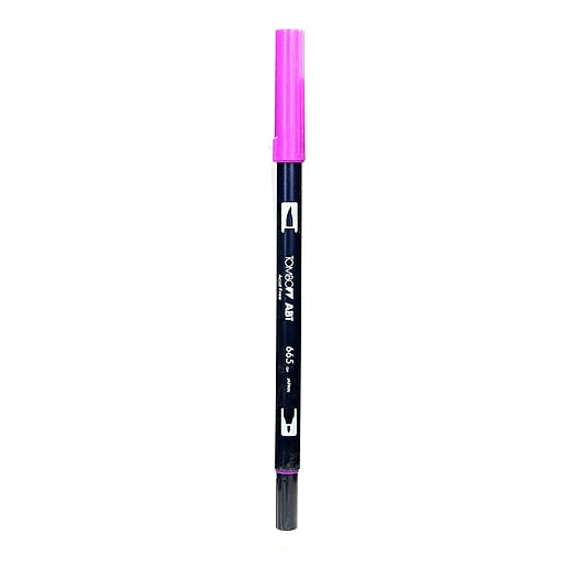 Tombow Dual End Brush Pen purple [Pack of 12]