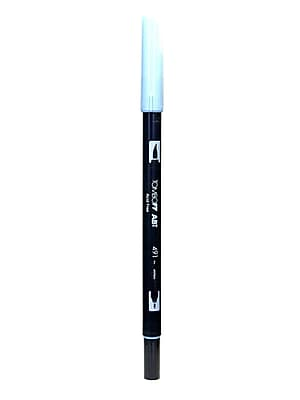 Tombow Dual End Brush Pen Glacier Blue [Pack Of 12]