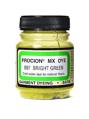 Jacquard Procion MX Bright Green 097 Fiber Reactive Dye, 2/3oz, 3/Pack (55075-PK3)