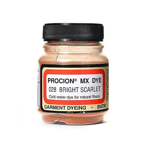 Jacquard Procion MX Fiber Reactive Dye bright scarlet 028 2/3 oz. [Pack of 3]