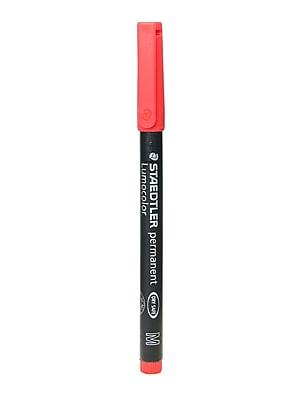 Staedtler Lumocolor AV Marker red medium [Pack of 10]
