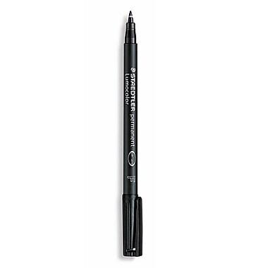 Staedtler Lumocolor AV Marker black fine [Pack of 10]