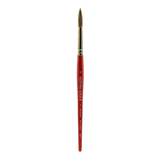 Winsor and Newton Sceptre Gold II Short Handled Brushes, 10 Round no 101 (44212)