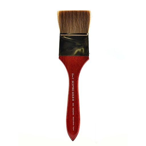 Winsor and Newton Sceptre Gold II Short Handled Brushes 2 in. wash
