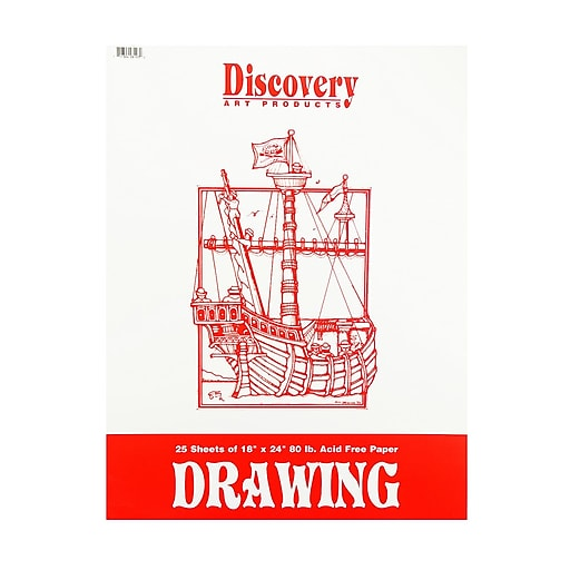 Discovery Drawing Pads 18 in. x 24 in. [Pack of 3]