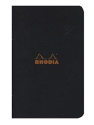 Rhodia Staplebound Notebooks Graph, Black Cover, 3