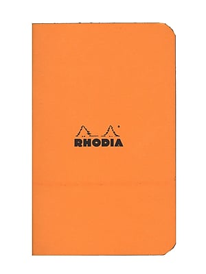 Rhodia Staplebound Notebooks graph, orange cover 3 in. x 4 3/4 in. 24 sheets [Pack of 10]