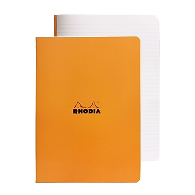 Rhodia Staplebound Notebooks Ruled, Orange Cover 6 In. X 8 1/4 In. 48 Sheets [Pack Of 10] (10PK-119188)
