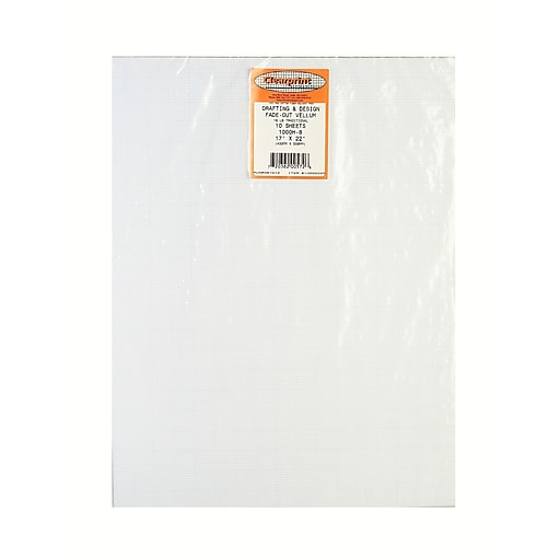 Clearprint Fade Out Design And Sketch Vellum 10x10 Grid 17 In X