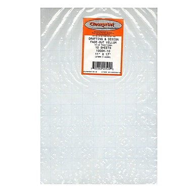 Clearprint Fade-Out Design and Sketch Vellum, 10x10 Grid, 11