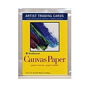 Strathmore Artist Trading Cards 300 Series Canvas Paper Pack Of 10 [Pack Of 6]