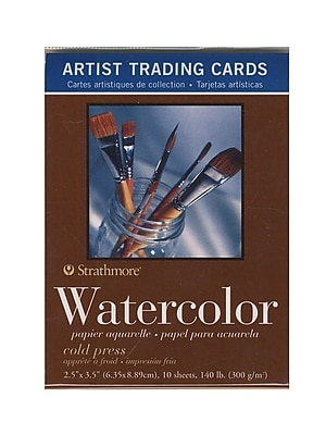 Strathmore Artist Trading Cards 400 Series Watercolor pack of 10 [Pack of 6]