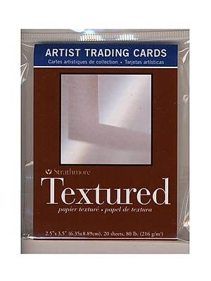 Strathmore Artist Trading Cards 400 Series Textured pack of 20 [Pack of 6]