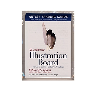 Strathmore Artist Trading Cards 500 Series Illustration Board pack of 5 [Pack of 6]
