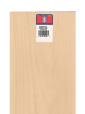 Midwest Basswood Sheets 1/8 In. 6 In. X 24 In. [Pack Of 5]