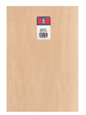 Midwest Basswood Sheets 3/32 In. 8 In. X 24 In. [Pack Of 5]