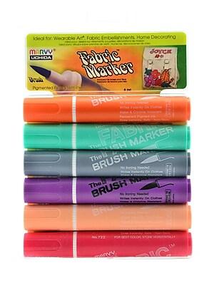 Marvy Uchida Fabric Brush Markers Set pastel set of 6