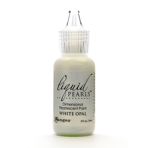 Ranger Liquid Pearls White Opal Pearlescent Paint, 1/2oz, 8/Pack (68225-PK8)