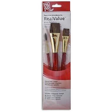 Princeton Real Value Series 9000 Red Short Handled Brush Sets no 9122, 3/Set (66282)