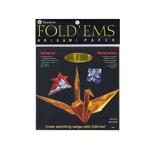 Yasutomo Fold'ems Origami Paper hologram 5 7/8 in. pack of 5 [Pack of 2]
