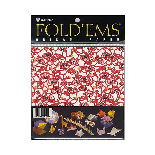 Yasutomo Fold'ems Origami Paper yuzen: 8 patterns 5 7/8 in. pack of 24 [Pack of 4]