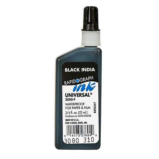 Koh-I-Noor Technical Inks Universal Drawing Ink Black [Pack Of 3]