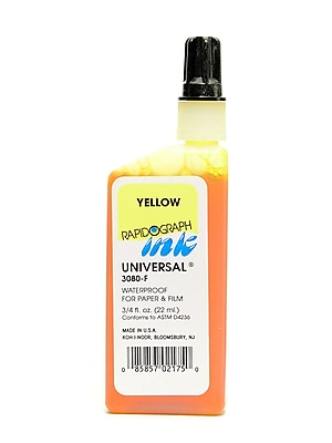Koh-I-Noor Technical Inks Universal Drawing Ink Yellow [Pack Of 3]