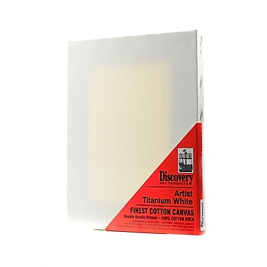 Discovery Finest Stretched Cotton Canvas white 8 in. x 10 in. each [Pack of 6]