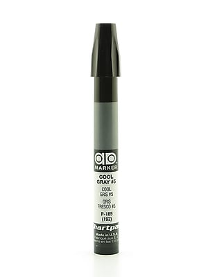 Chartpak AD Marker, Cool Gray 5, Tri-Nib [Pack of 6]