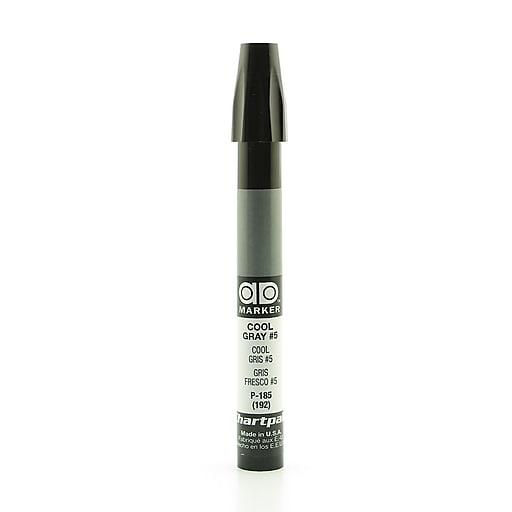 Chartpak AD Marker, Cool Gray 5, Tri-Nib [Pack of 6]